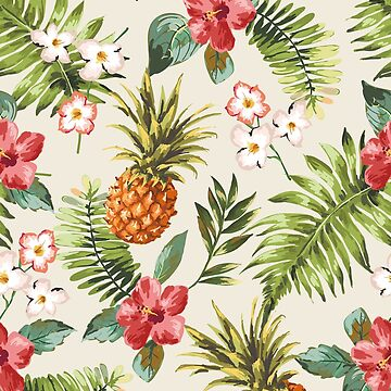 Pineapples and flowers pattern by Wmcs91