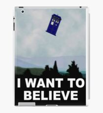 """""""I Want To Believe"""" Police Public Call Box version.  iPad Case/Skin"""