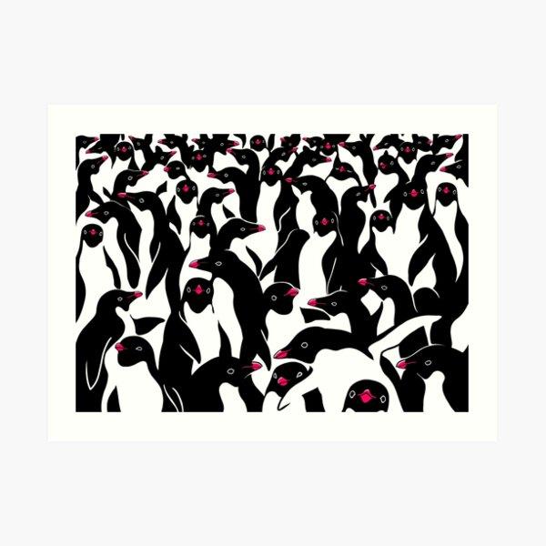 meanwhile penguins II Art Print