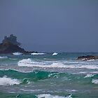 Panama. Bocas del Toro. Red Frog Beach. Waves. by vadim19