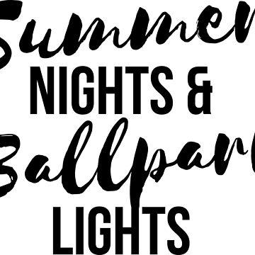 Summer night and ballpark light t-shirt by RedYolk