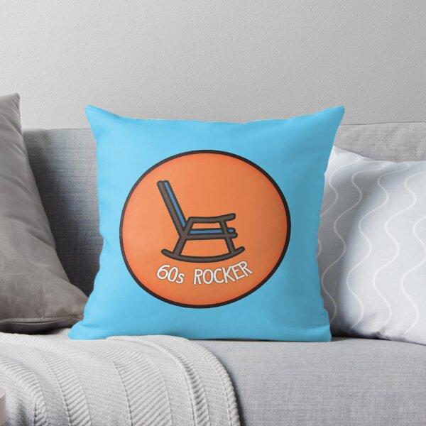 60s Rocker, Rocking Chair Throw Pillow