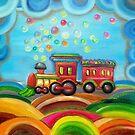 Retro Train by Radosveta Zhelyazkova