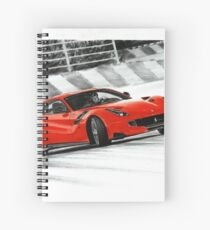Ferrari F12 TDF Berlinetta Spiral Notebook