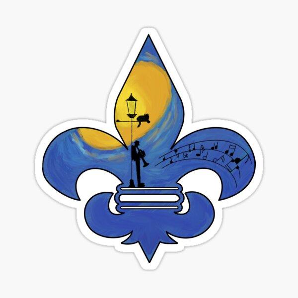Fleur De Lis - Jazz Style  Sticker
