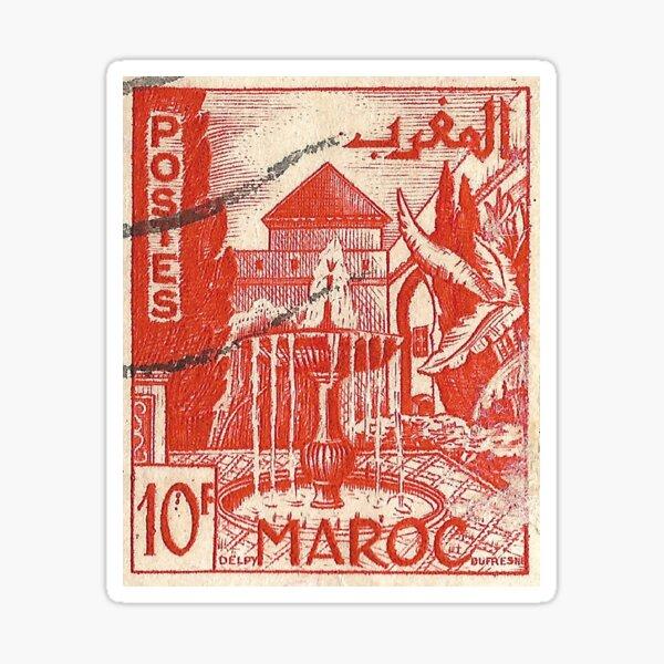 Timbre Marocain Sticker