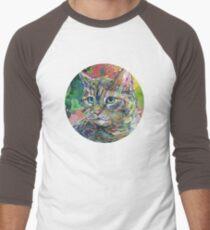 Cat painting - 2011 Men's Baseball ¾ T-Shirt