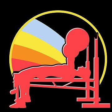 Bench press muscles by GeschenkIdee