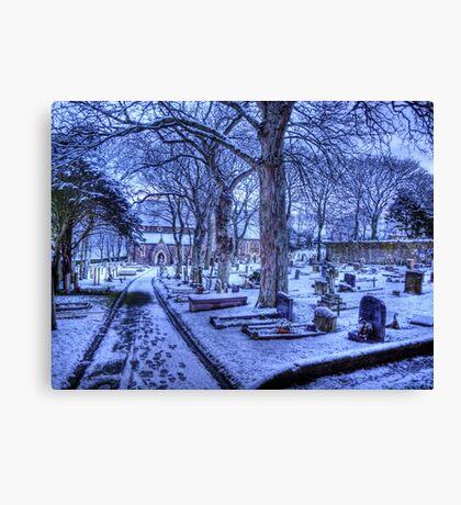Snow on Alderney Canvas Print