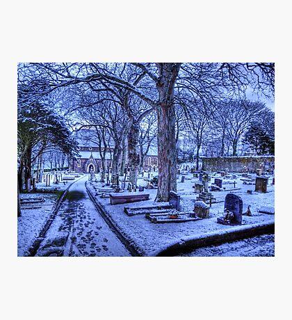 Snow on Alderney Photographic Print
