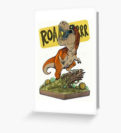 Rex Roars! Greeting Card