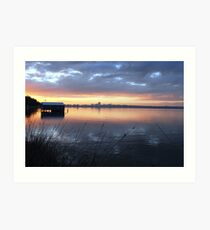 Crawley Boatshed by Sunrise Art Print