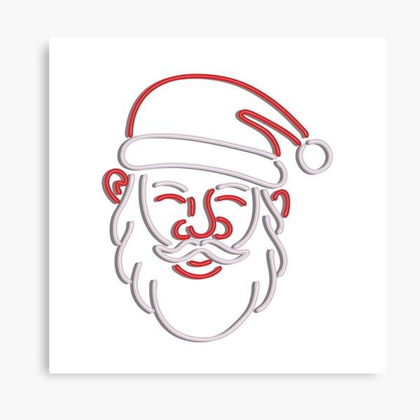Santa Claus Neon Sign Canvas Print