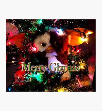 Merry Gizmas Gremlin Christmas Photographic Print