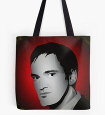 Young Tarantino headshot digital sketch Tote Bag