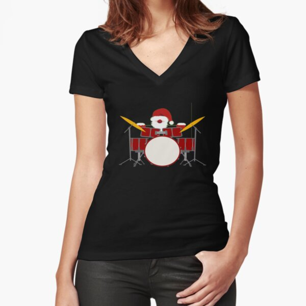 Club Hard Drums Heavy Metal Rockabilly Rock T-Shirt WICKED DRUMMER T-SHIRT