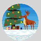 Rudolphs Baum von Pixel-Bones
