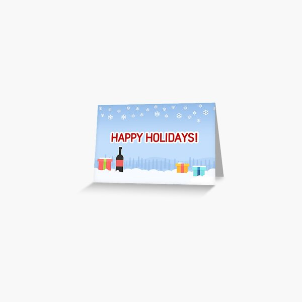 Happy Holidays Greetings Card Greeting Card