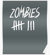 zombie kill count white paint hash count Poster