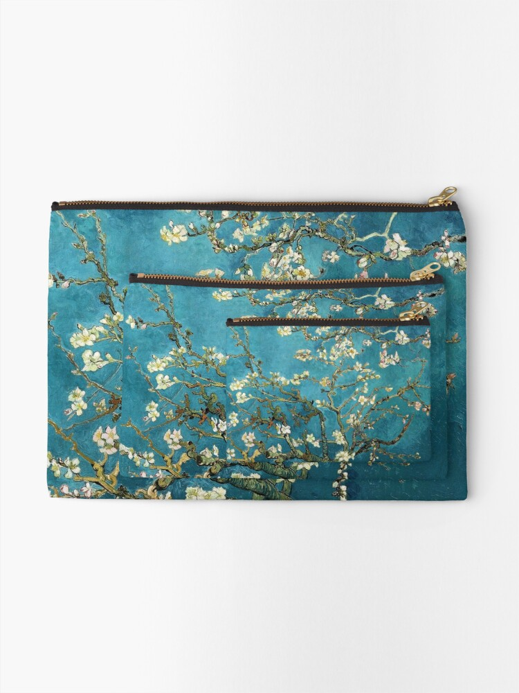 Alternate view of Blossoming Almond Tree, Vincent van Gogh.  Zipper Pouch