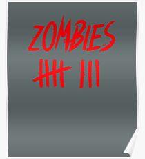 zombie kill count bloody hash count Poster