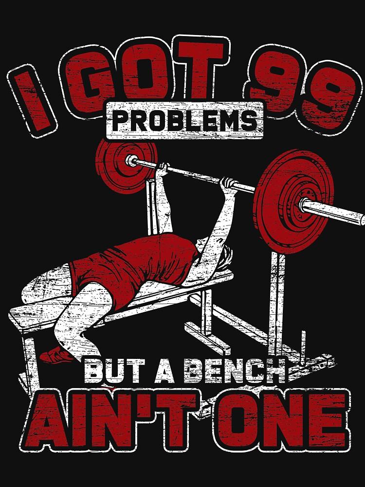 Bench press gym by GeschenkIdee