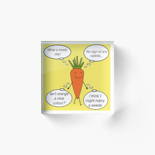 Kevin the Carrot Acrylic Block