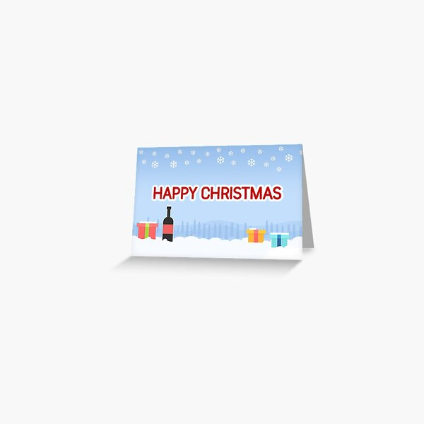 Happy Christmas Greetings Card Greeting Card