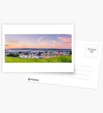 Glastonbury Festival at Sunset Panorama with Tipis Postcards