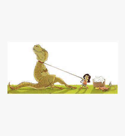 Dinosaur Bathtime Photographic Print