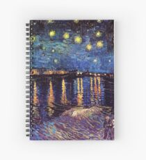 Starry Night over the Rhone, Vincent van Gogh Spiral Notebook