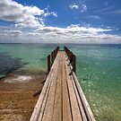 Small pier at August bay by Richard Majlinder