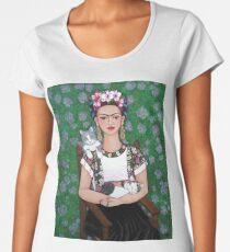 Camiseta premium para mujer Frida cat lover