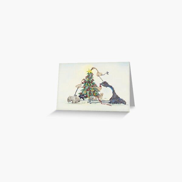 Tassie Christmas Greeting Card