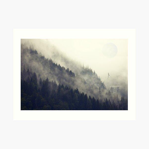 Waldmond Kunstdruck