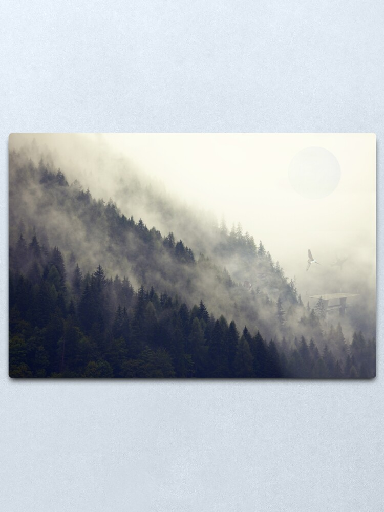 Alternate view of Forest Moon Metal Print