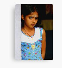 Girl with Stare Canvas Print
