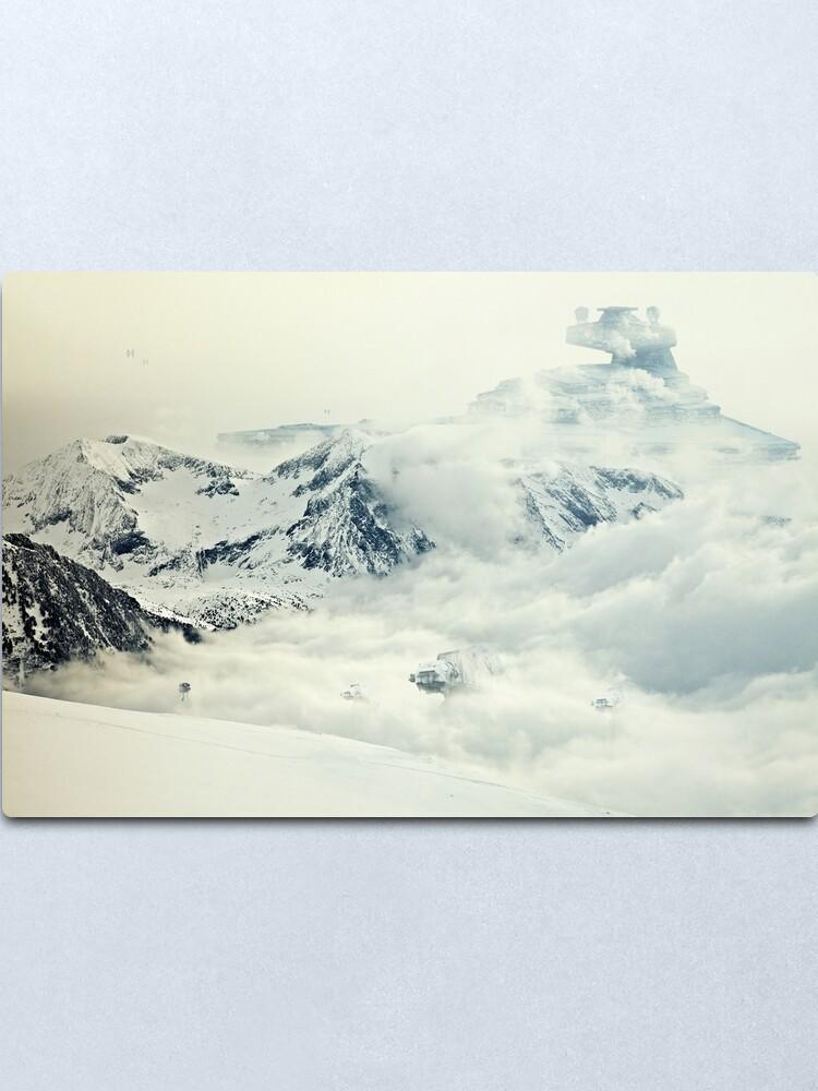 Alternate view of Frozen planet Metal Print