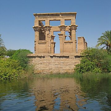 The Temple of Philae on the River Nile by Johnhalifax