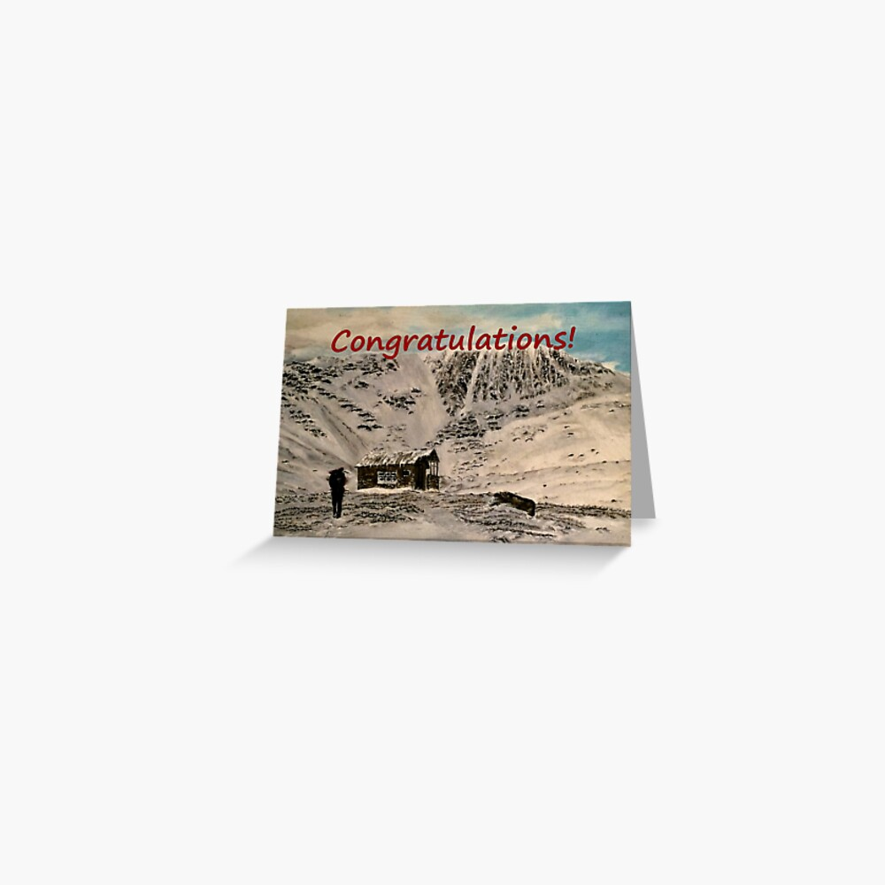 Scottish Mountains Congratulations Card Greeting Card