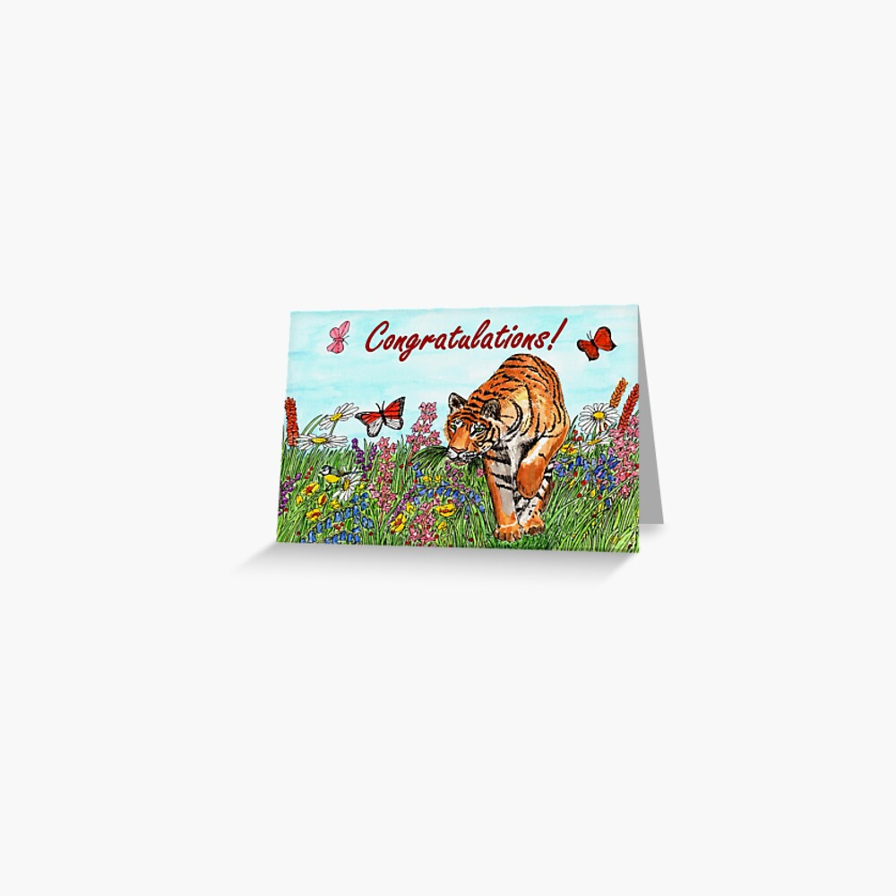 Tiger Congratulations Card Greeting Card