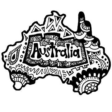 Australia Zentangle by alexavec