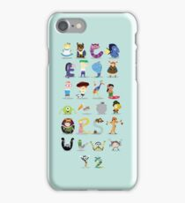 Animated characters abc iPhone Case/Skin