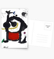 Postales Joan Miro, Bethsabée 1972 Reproducción de ilustraciones, grabados, pósters, camisetas, bolsos, hombres, mujeres, niños