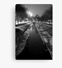 Wintery Canal Canvas Print