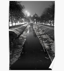 Wintery Canal Poster