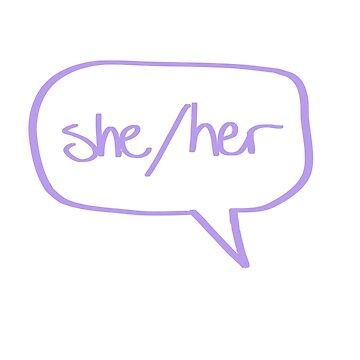 She/Her Pronouns by SpectacledPeach