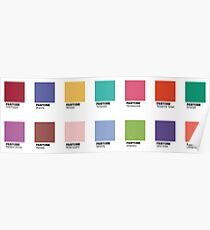 Pantone - Colors of the Year (2007-2019) - Set of 14 stickers Poster