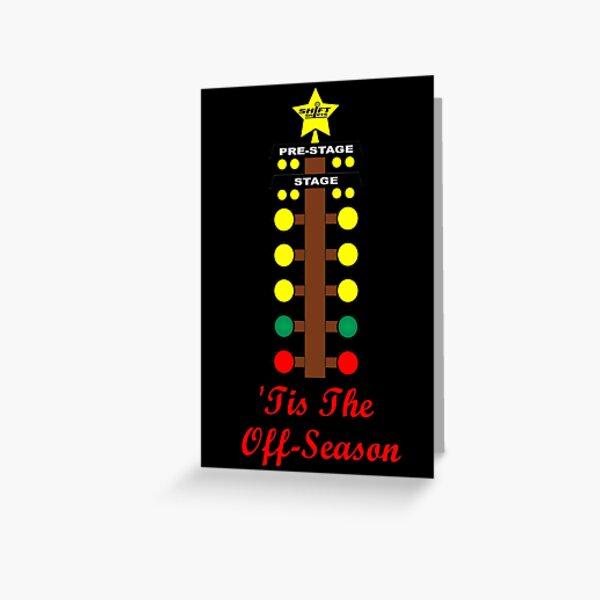 Christmas Tree- Drag Racing Inspired Greeting Card