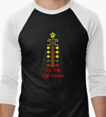 Christmas Tree- Drag Racing Inspired Men's Baseball ¾ T-Shirt